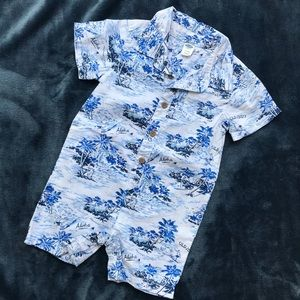 Old Navy Aloha Romper 12-18 Months EUC